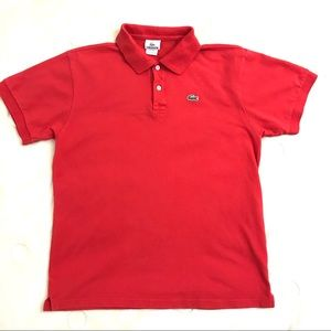 Lacoste Men's Red Polo Shirt
